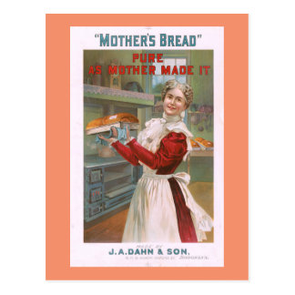 Mother's Bread Vintage Advertising Postcard