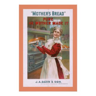 Mother's Bread Vintage Advertising Poster