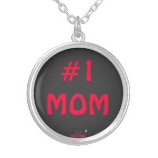 """mothers day""""#1 mom""""necklace"""