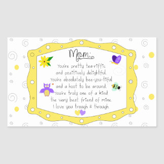 Mother's Day 2017 Rectangular Sticker