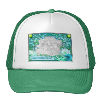 Mother's Day - ADD YOUR PHOTO - Blue Fantasy Trucker Hat