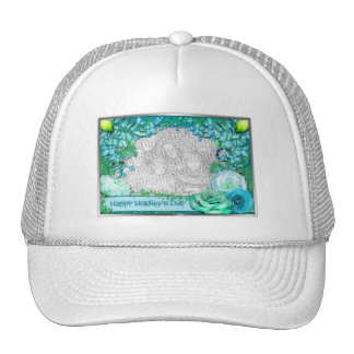 Mother's Day - ADD YOUR PHOTO - Blue Fantasy Hat