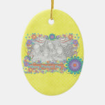 Mothers Day - ADD YOUR PHOTO - Spring Flowers Christmas Tree Ornament