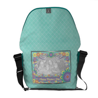 Mothers Day ADD YOUR PHOTO Spring Flowers Commuter Bag