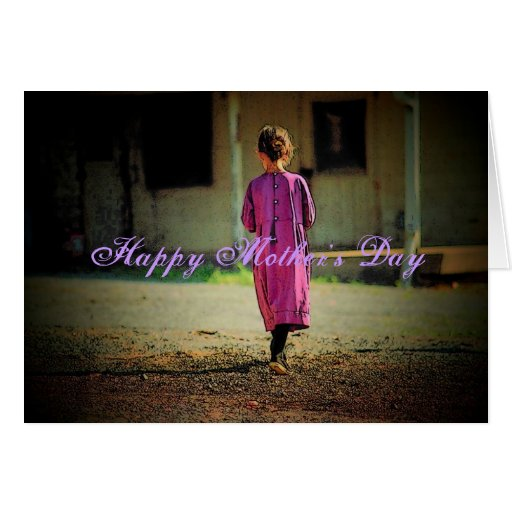 Mother's Day Amish Girl Card