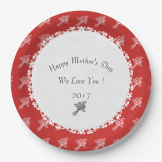 Mother's-Day--Anniversary-Template_Red-White Paper Plate