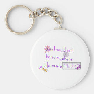 Mother's Day Basic Round Button Key Ring