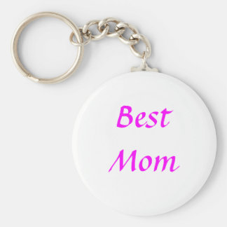 Mother's Day Best Mum Basic Round Button Key Ring
