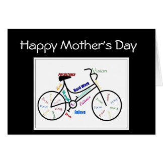 Mother's Day Bike Cycle, Sport Motivational Card