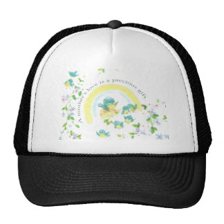Mother's Day Blue Love Birds Cap