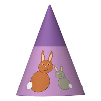 Mothers Day Bunnies Party Hat