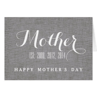 Mother's Day Card | Gray Linen Personalized