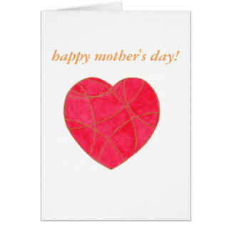 mother's day card pink heart