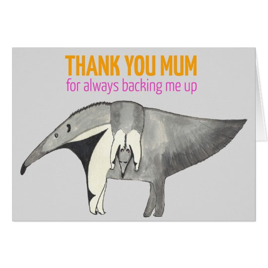 Mother's Day card with cute Anteaters illustration