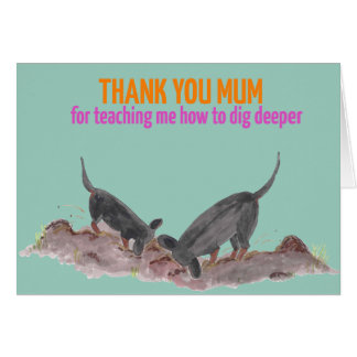 Mother's Day card with cute dog illustration