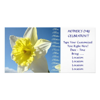 Mothers Day Celebration! Invitations Daffodils Photo Card Template
