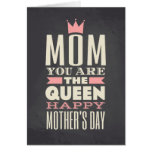 Mother's Day Chalkboard Style Text Design Greeting Card