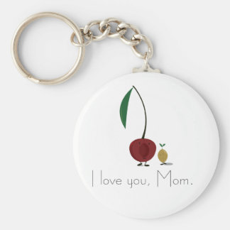Mother's Day cherry and cherry pit characters Keychains