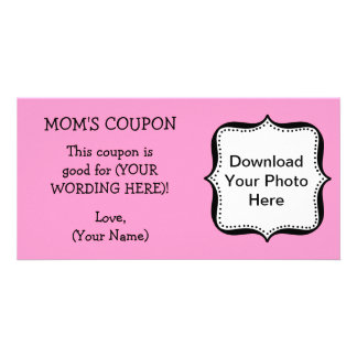 Mother's Day COUPON FOR MOM Personalized Photo Card