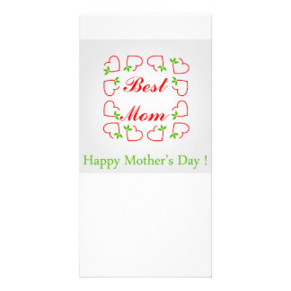 Mothers day customised photo card