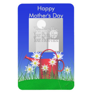 Mothers Day Daisies and Watering Can Rectangular Photo Magnet