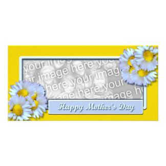 Mothers Day Daisies Photo Card Template