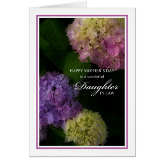 Mother's Day Daughter In Law, Painted Hydrangea Greeting Card