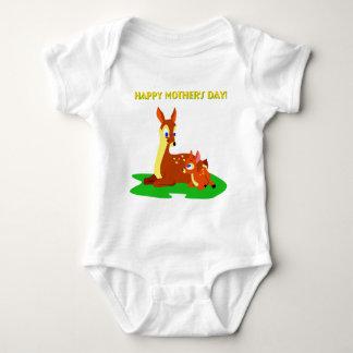 Mothers Day Deer Baby Bodysuit