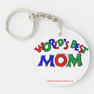 Mother's Day Double-Sided Round Acrylic Key Ring