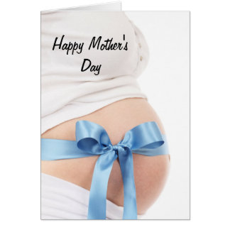 Mother's Day Expectant Mother Baby Boy Greeting Card