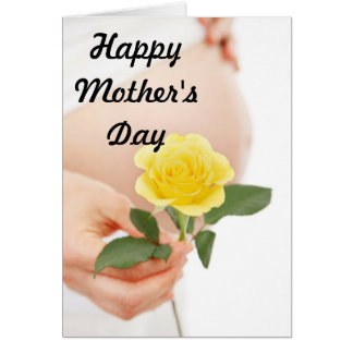Mother's Day Expectant Mother Yelliow Greeting Card