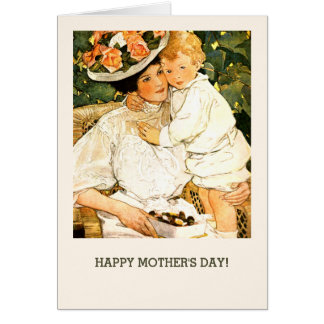 Mother's Day Fine Art Custom Greeting Cards