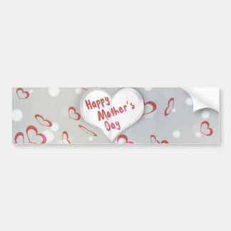 Mother's Day Folded Paper Heart - Bumper Sticker