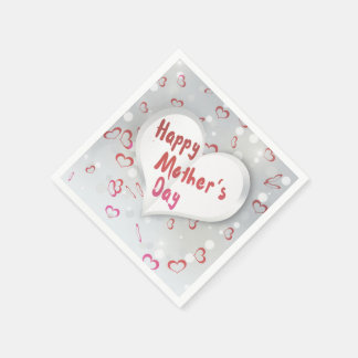Mother's Day Folded Paper Heart - Paper Napkin