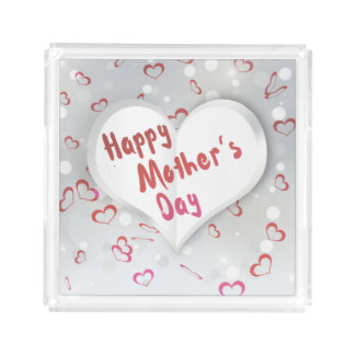 Mother's Day Folded Paper Heart - Square Tray