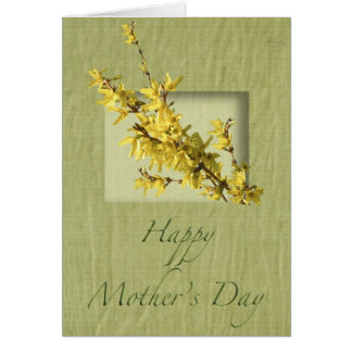 Mother's Day Forsythia Card