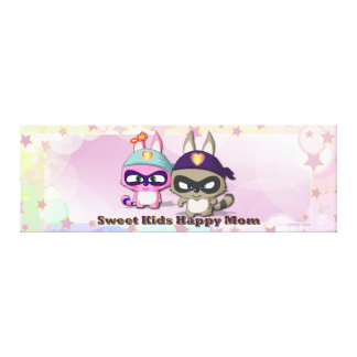 Mother's Day Gift Cute Cartoon Character Canvas Canvas Print