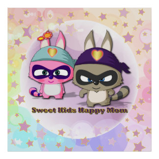 Mother's Day Gift Cute Cartoon Character Poster