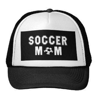 Mothers Day gift Ideas Soccer Mom logo Black Cap