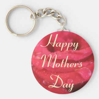 Mothers Day greeting Basic Round Button Key Ring