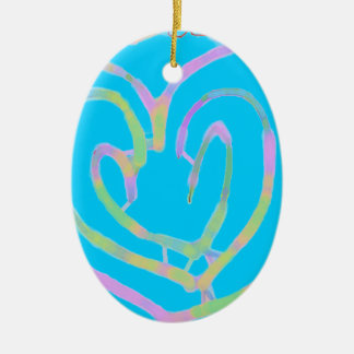 Mother's day heart design christmas ornaments