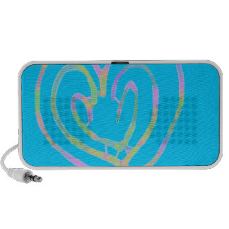 Mother's day heart design mp3 speakers