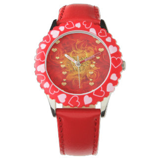Mother's day, hearts and roses wristwatch