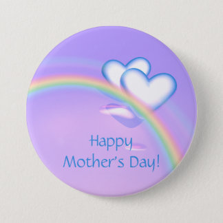 Mothers Day High Hearts 7.5 Cm Round Badge