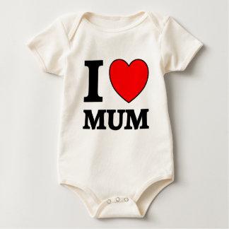 Mothers Day I Love Mum Baby Bodysuit