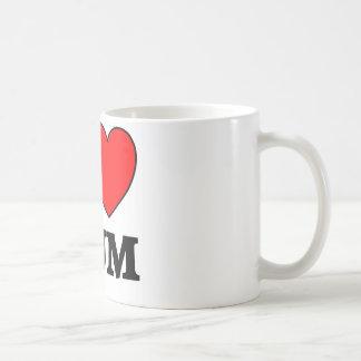 Mothers Day I Love Mum Basic White Mug