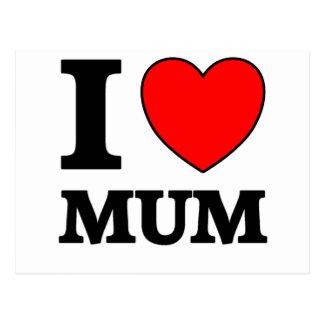Mothers Day I Love Mum Postcard