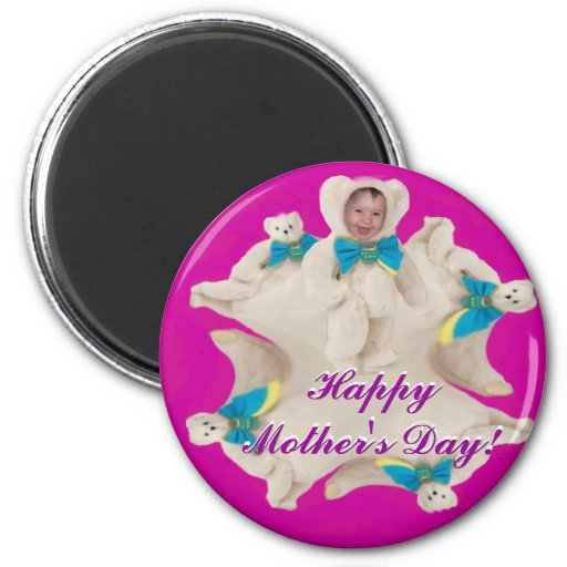 Mother's Day Jumping Baby Bear Magnet