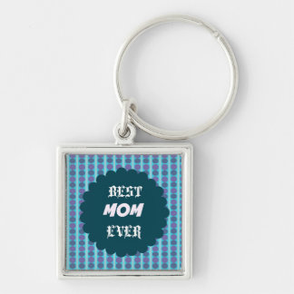 Mother's day Silver-Colored square key ring