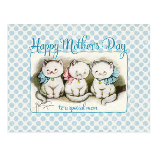 Mother's Day Kitties Vintage Reproduction Postcard